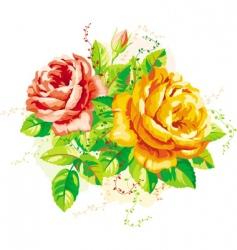 vintage roses vector image