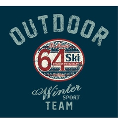 Saint moritz winter ski team vector