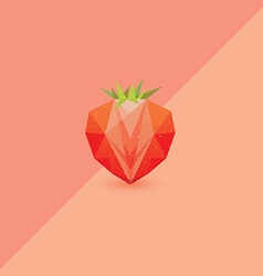 3d low polygon strawberry vector