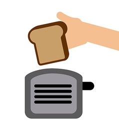 Toast bread vector