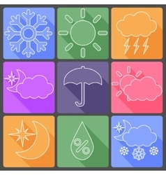 Weather colorful icons vector