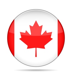 Button with canada flag vector