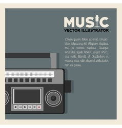 Music and radio design vector