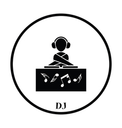 Night club dj icon vector
