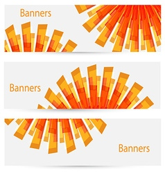 abstract creative light banners vector image vector image