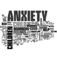 Anxiety disorder text word cloud concept vector