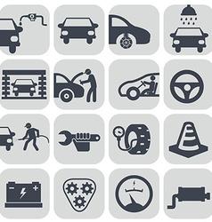 auto car icons set vector image