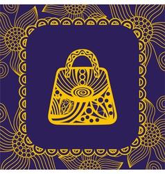 Bag pattern flowers vector image