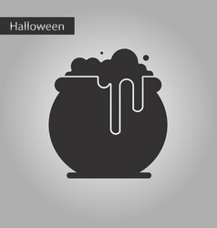 Black and white style icon halloween witches vector