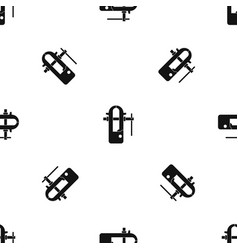 Blacksmiths vice pattern seamless black vector