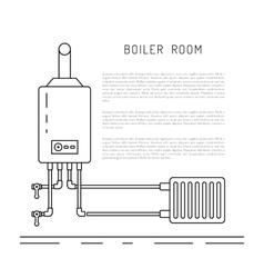 boiler room equipment vector image