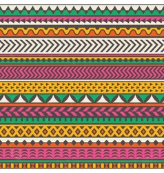 Colorful tribal print seamless background vector image