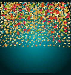 confetti explosion festival isolated vector image vector image