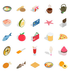 Filling for bun icons set isometric style vector