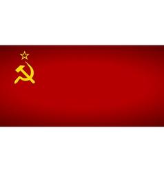 Flag of the soviet union vector