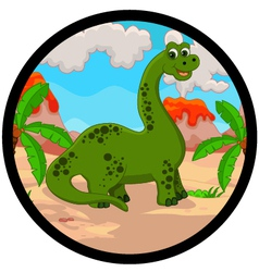 funny dinosaur cartoon vector image vector image