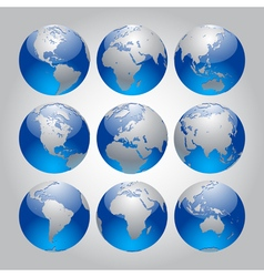 Globe Set vector image vector image