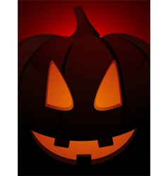 halloween pumpkin close up on red vector image vector image