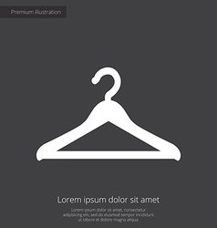 Hanger premium icon white on dark background vector