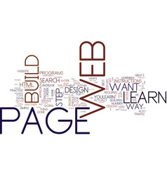 Learn how to build a web page text background vector