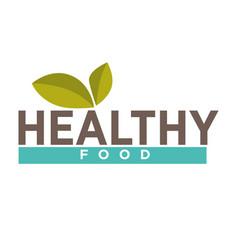 leaves on healthy food symbol vector image