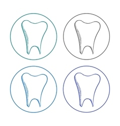 logo tooth set vector image vector image