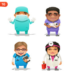 medical professions set vector image vector image