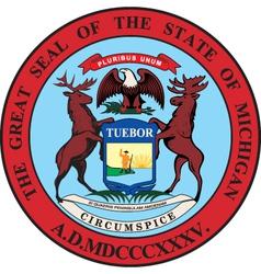 Michigan seal vector