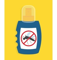 Mosquito free spray Insects repellent vector image vector image