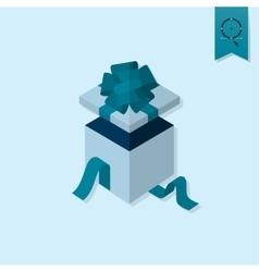 Open gift box vector