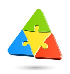 Puzzle triangle vector image