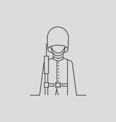 Queen s guard vector