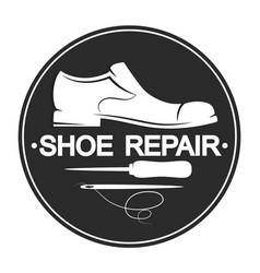 repair shoes design vector image vector image