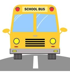 School Bus Cartoon Character vector image