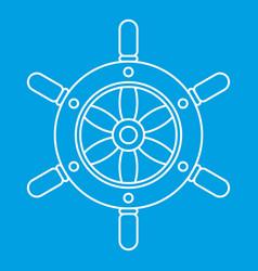 Ship wheel icon outline style vector