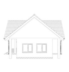 Sketch line at home vector