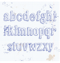 small letters on notebook vector image