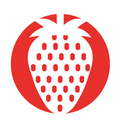Strawberry fresh fruit isolated icon vector