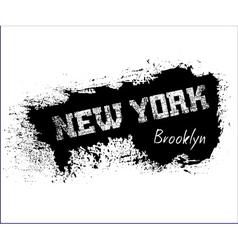 T shirt typography graphics New York Brooklyn vector image vector image