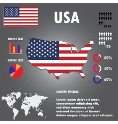 United States Of America Country Infographics vector image