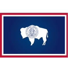 wyoming flag vector image vector image