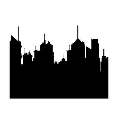Silhouette city buildings skyline downtown vector