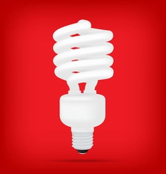 Popular compact fluorescent lamps white energy sav vector
