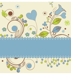 Floral design with space for text vector image
