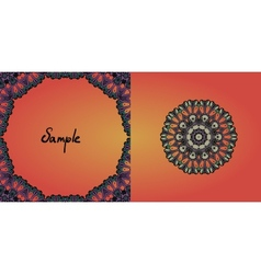 Decorative vintage eastern mandala frame vector