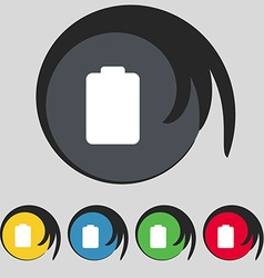 Battery empty low electricity icon sign symbol on vector