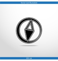 Compass web flat icon vector