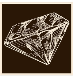 Diamond vintage vector
