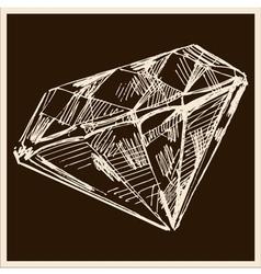 Diamond vintage vector image