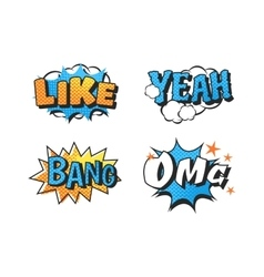 Popart comic speech bubble vector